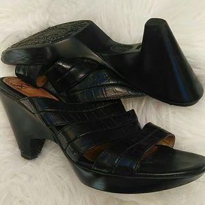 Black Sofft 4 inch heeled sandals